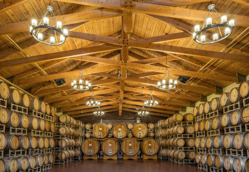 The Ponte Winery Barrel Room